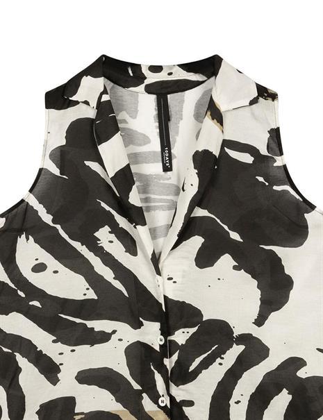 10 Days blouse 20-403-1202 in het Zwart / Wit