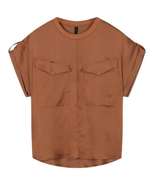 10 Days blouse 20-414-1201 in het Brique