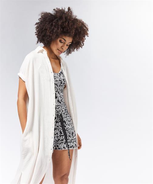 10 Days jurk 20-707-0201 in het Zwart / Wit