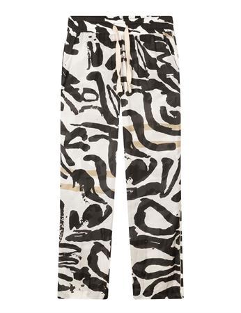 10 Days pantalons 20-013-1202 in het Zwart / Wit