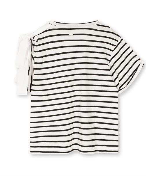 10 Days t-shirts 20-746-1203 in het Zwart / Wit