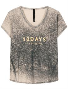 10 Days t-shirts 20-751-1201 in het Zilver