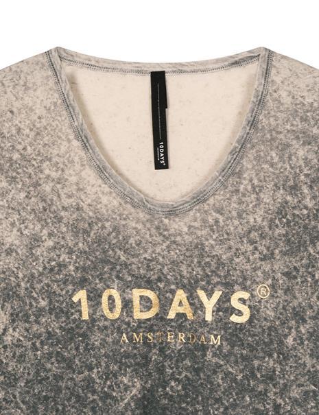 10 Days t-shirts 20-751-1201 in het Zilver