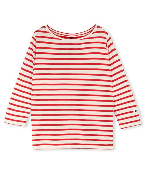 10 Days t-shirts 20-777-1203 in het Wit/Rood