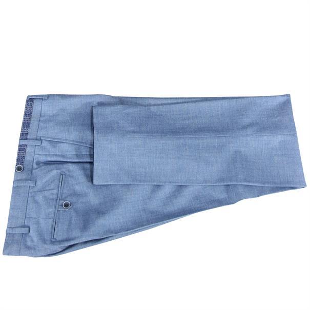 7Square business pantalon Slim Fit 242002-pant in het Licht Blauw