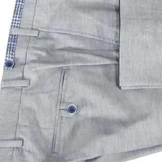 7Square business pantalon Slim Fit 242002-pant in het Licht Grijs