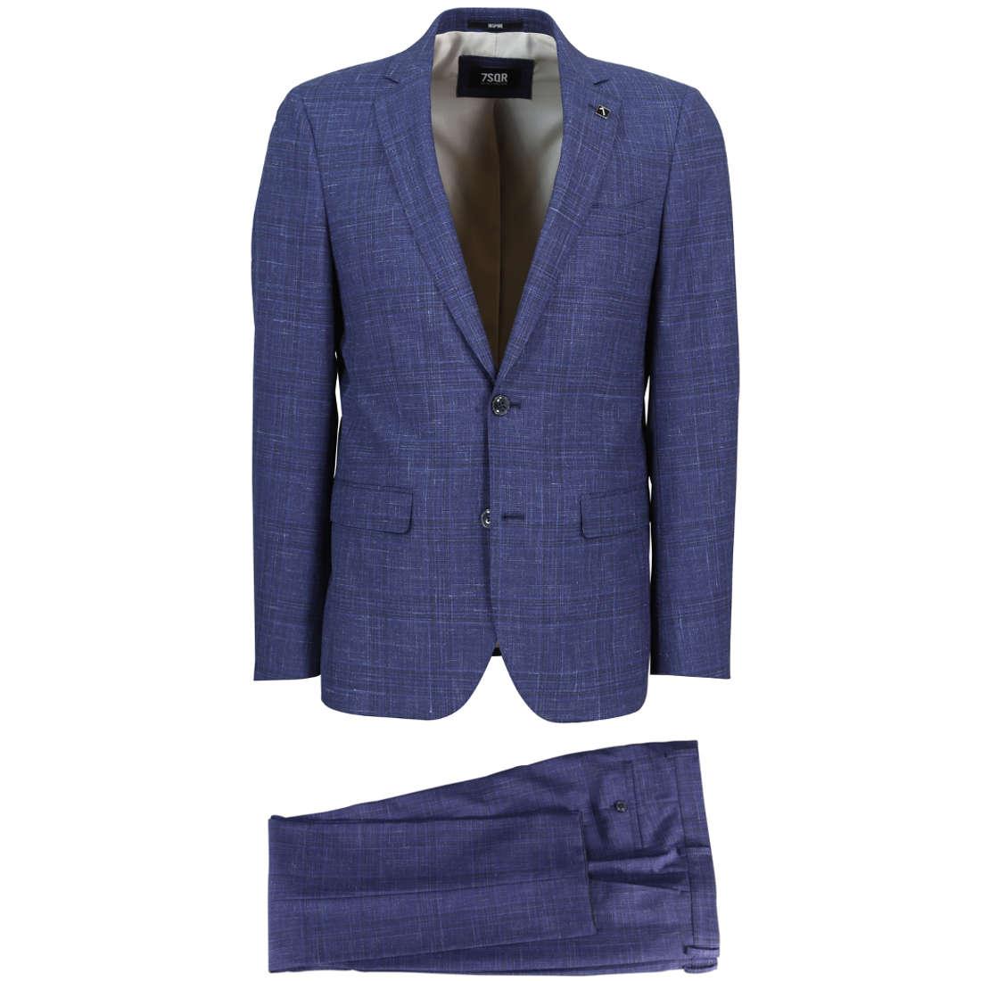 Smit Mode:  7Square kostuum 21026802 213004 in het Blauw