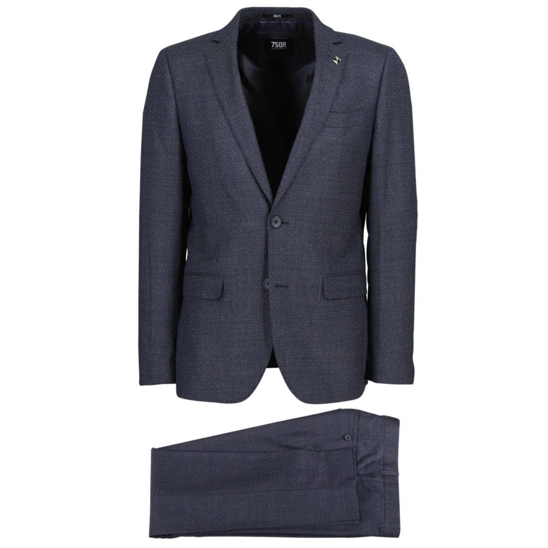 Smit Mode:  7Square kostuum 223030 in het Donker Blauw