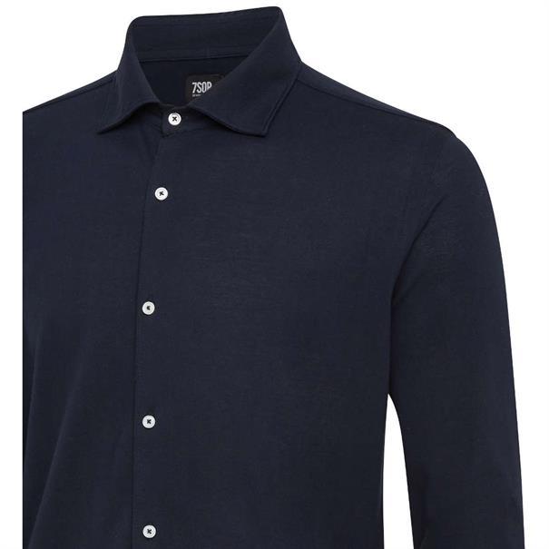 7Square overhemd 70004802-646003 in het Donker Blauw