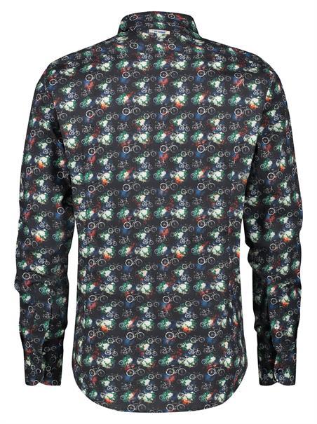 A Fish named Fred casual overhemd 21.02.019 in het Zwart