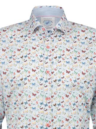 A Fish named Fred casual overhemd Slim Fit 22.02.033 in het Blauw