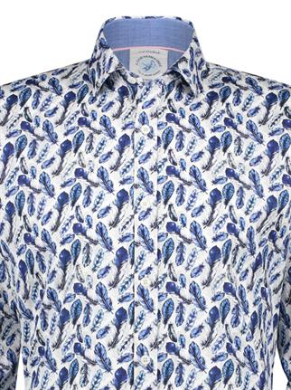 A Fish named Fred casual overhemd Slim Fit 22.02.046 in het Blauw