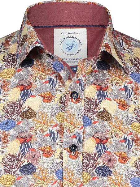 A Fish named Fred casual overhemd Slim Fit 23.01.008 in het Multicolor