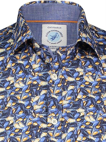 A Fish named Fred casual overhemd Slim Fit 23.01.012 in het Multicolor