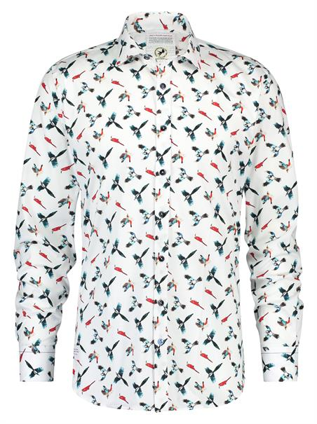 A Fish named Fred casual overhemd Tailored Fit 20.01.005 in het Multicolor