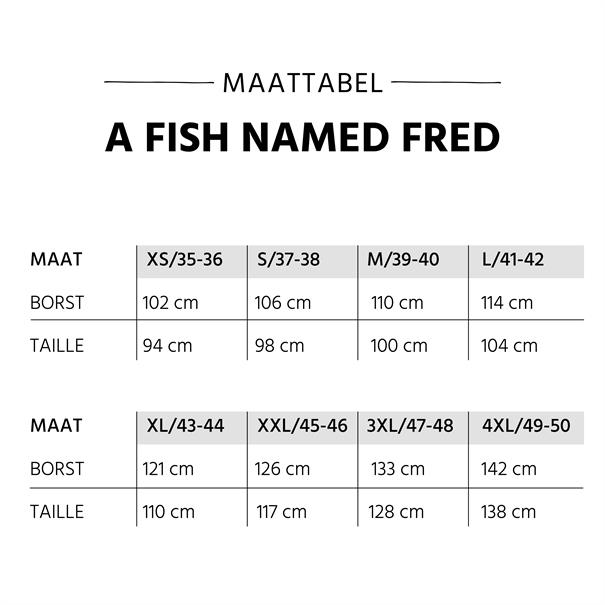 A Fish named Fred casual overhemd Tailored Fit 20.02.020 in het Wit/Blauw