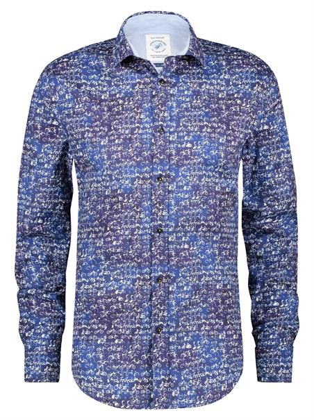 A Fish named Fred overhemd 21.02.067 in het Hemels Blauw