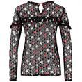 Aaiko blouse basha in het Zwart / Rood
