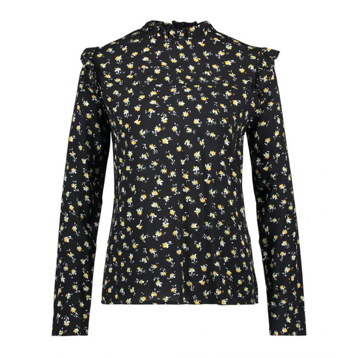 Smit Mode:  Aaiko blouse FRANCE FLOWER VIS in het Zwart