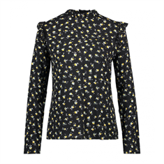 Aaiko blouse FRANCE FLOWER VIS in het Zwart