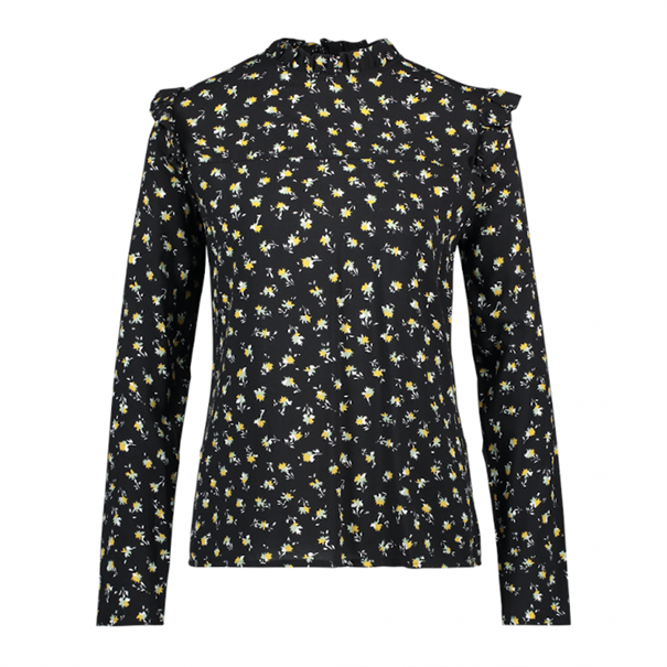 Aaiko blouse FRANCE FLOWER VIS in het Zwart