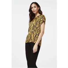 Aaiko blouse MERLE ANIMAL VIS in het Geel