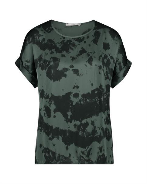 Aaiko blouse MERLE TIEDYE VIS in het Mint Groen