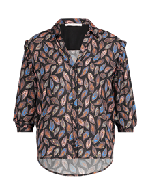 Aaiko blouse PEBBE PAISLEY VIS in het Zwart
