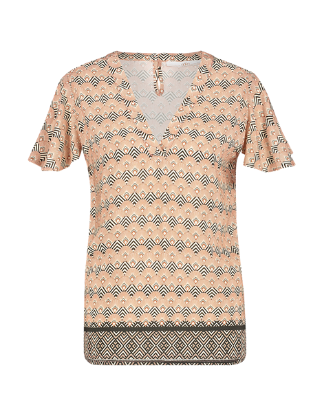 Aaiko blouse ROELLE VIS 513 in het Brique