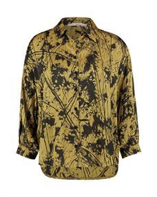 Aaiko blouse SADE STROKES VIS in het Geel