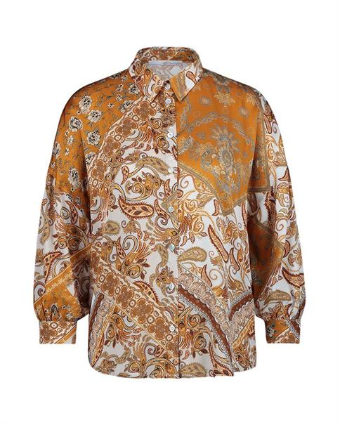 Aaiko blouse SADÉ VIS 517 in het Bruin
