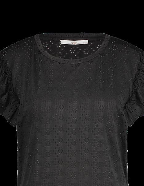 Aaiko blouse SALLY BRODERIE PE in het Zwart