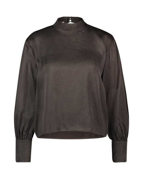 Aaiko blouse SUELYNN DOTS VIS in het Bruin