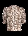 Aaiko blouse TACIANA ZEBRA VIS in het Brique