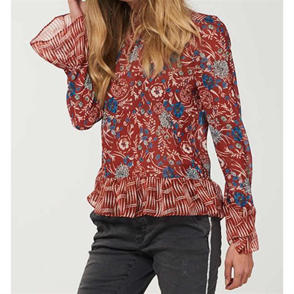 Aaiko blouse todore in het Roest