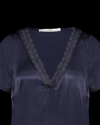 Aaiko blouse VALENY VIS 523 in het Marine