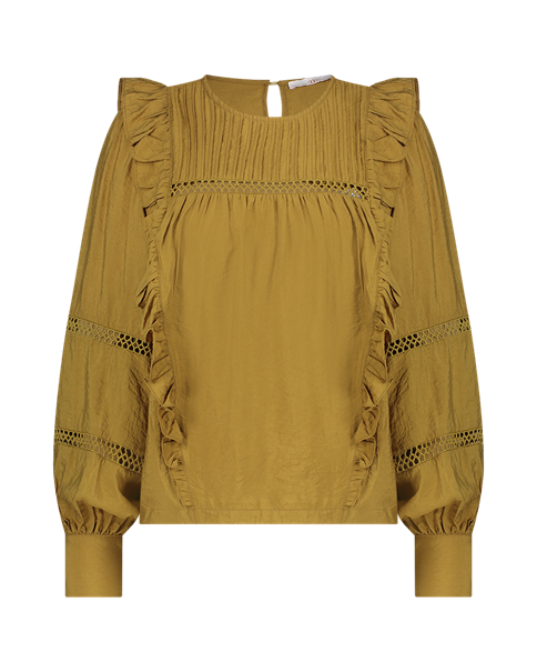 Aaiko blouse VAYENNA VIS 527 in het Licht Groen