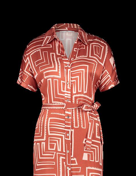Aaiko jurk GLENNE VIS 516 in het Brique