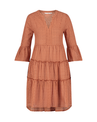 Aaiko jurk KAMPUR BRODERIE C in het Roze