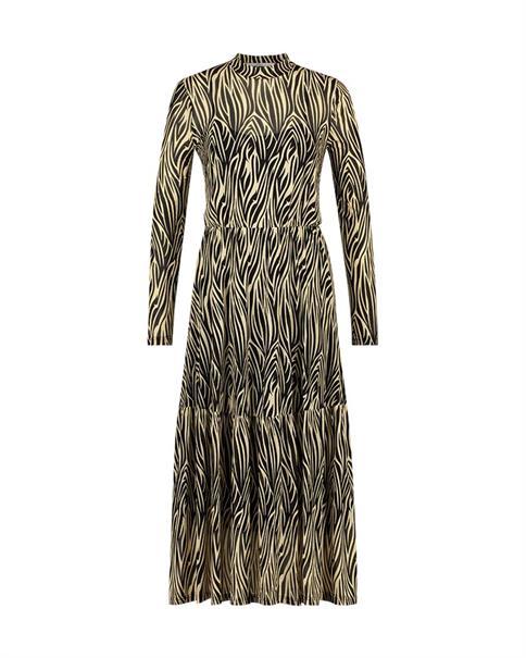 Aaiko jurk MIRLA MESH PA 112 in het Zwart