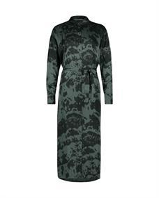 Aaiko jurk PALMA TIEDYE VIS in het Mint Groen