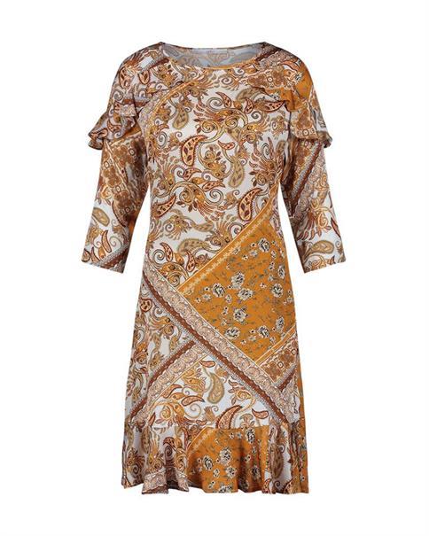 Aaiko jurk SAFIYA VIS 517 in het Bruin