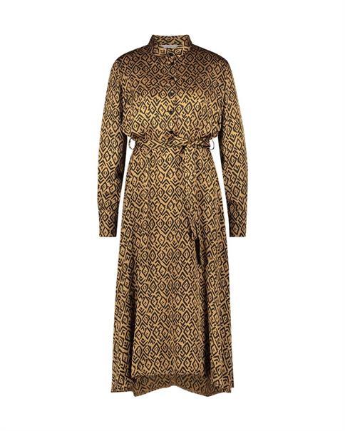 Aaiko jurk SOILA GRAPHIC VIS in het Brique