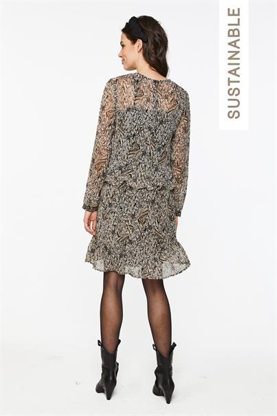Aaiko jurk TALISE SCRATCHED in het Bruin