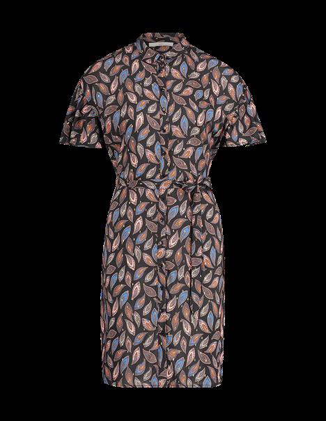 Aaiko jurk VARSHA PAISLEY VI in het Zwart