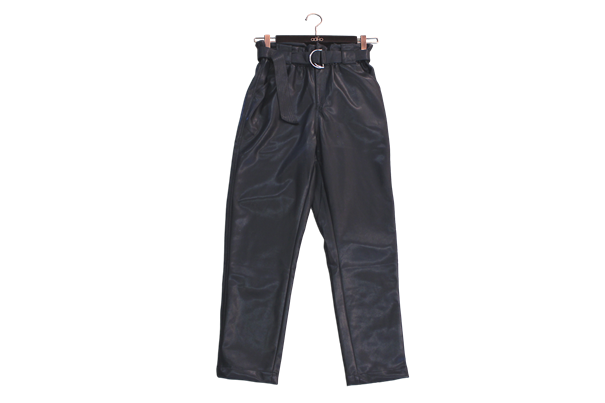 Aaiko pantalons PAMALLA PU 766 in het Zwart