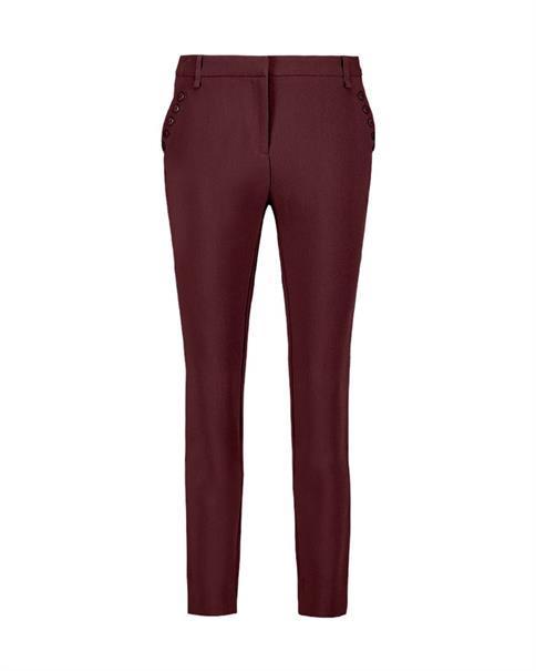 Aaiko pantalons PARIEN BUTTONS in het Rood