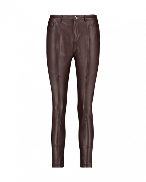 Aaiko pantalons Skinny SYBIL PU 766 in het Bruin