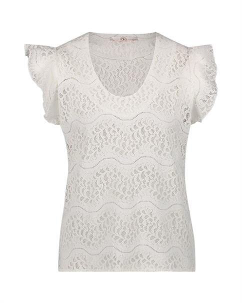 Aaiko t-shirts DENO LACE CO 513 in het Offwhite