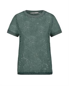 Aaiko t-shirts FLEURON CO 514 in het Mint Groen